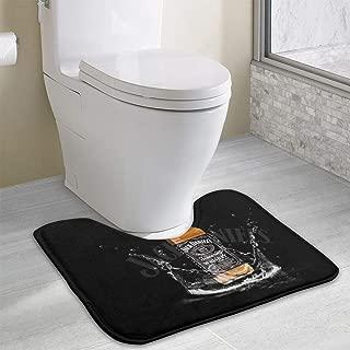 Toilet Rug Jack Daniels Toilet Carpet Bath Rug Non-Slip U-Shaped Toilet Floor Rug Bathroom Rug