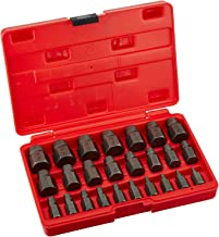 """Neiko 04204A Hex Head Multi-Spline Screw and Bolt Extractor 25-Piece Set 