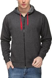 Scott International Men's Rich Cotton Sweatshirt with Zip - Charcoal