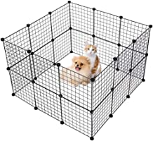 Pet Playpen Tent Large Cats Exercise Pen Crate Cage Kennel Dog Foldable Fence Yard Barrier for Kitten Puppy Rabbit Small...