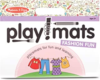 Melissa & Doug Playmats Fashion Fun Take-Along Paper Coloring And Learning Activity Pads (24 Pages)
