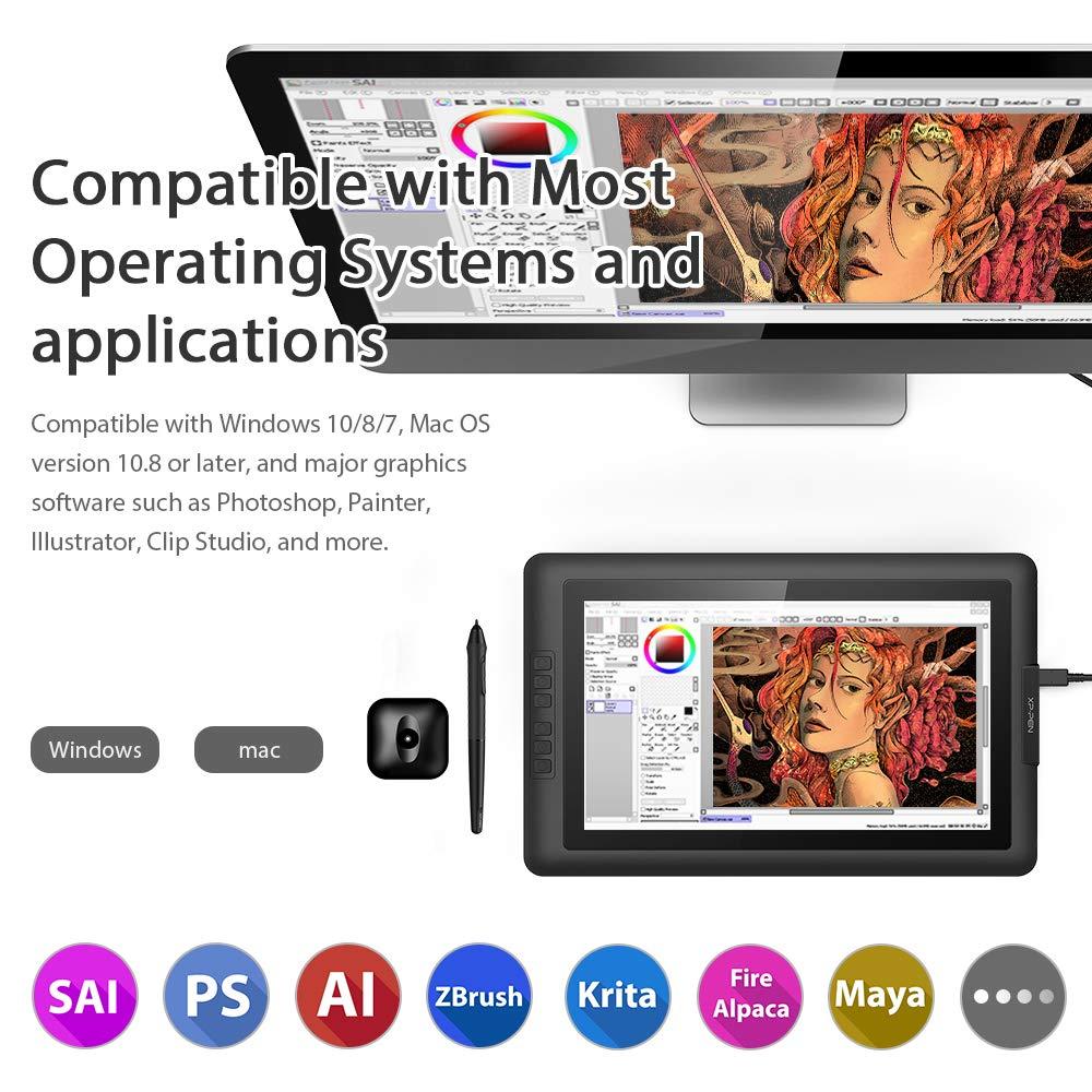 XP-PEN Artist15.6 IPS Gráficos Monitor de Dibujo Tableta con ...