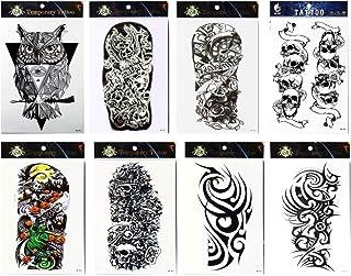 spestyle impermeable y no Tóxico – 8 brazo Fake Temporal Tatuaje Pegatinas en un paquetes,