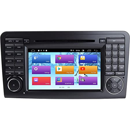 Zltoopai 7 Zoll Android 10 Autoradio Für Mercedes Benz Gl Ml Class W164 X164 Ml350 Ml450 Ml500 Gl320 Gl450 Mit Dsp Ips Gps Wifi Bluetooth Canbus Gps Obd Dab Navigation