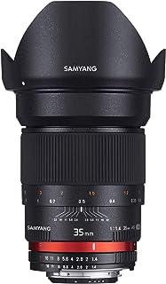 Samyang F1111003101 - Objetivo fotográfico DSLR para Nikon F Ae (Distancia Focal Fija 35mm Apertura f/1.4-22 AS UMC diámetro Filtro: 77mm) Negro