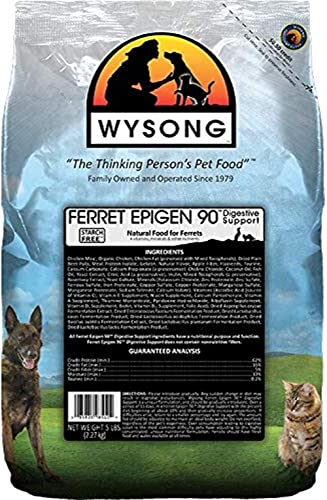 Wysong Ferret Epigen 90 Digestive Support - Starch Free Dry Natural Food for Ferrets