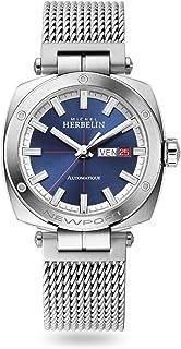 Michel Herbelin - Reloj para hombre, edición limitada, automático, 1764/42B, malla milanesa de 42 mm, cristal de zafiro