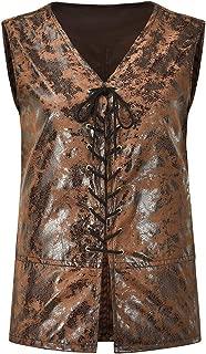 brown leather jerkin