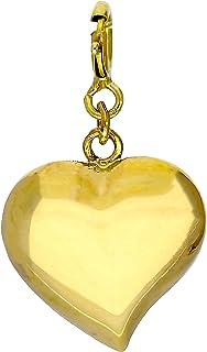 63f9b4fd43 JewelleryBox Charm Cœur en Argent 925/1000 - Attache Mousqueton