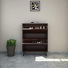 @home by Nilkamal Martin FISRMARTIN2TRSRWLT Shoe Cabinet (Walnut)