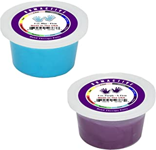 Humactive Hand Therapy Putty, Set of 2 - 4 Ounce, Firm / X-Firm (Blue / Purple)