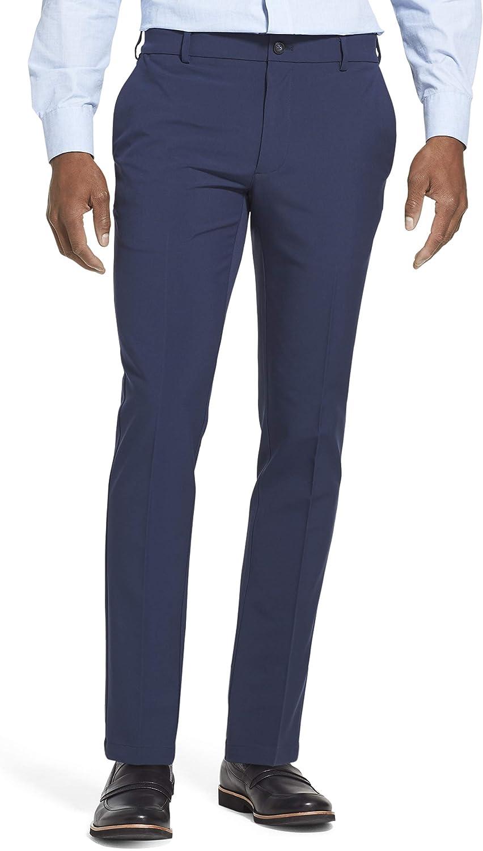 Van Heusen Men's Slim Fit Flex Flat Front Pant
