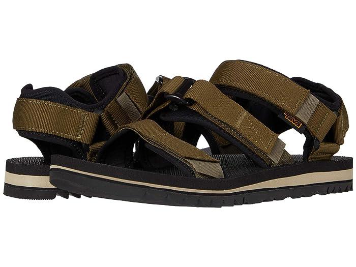 Teva  Cross Strap Trail (Dark Olive) Mens Shoes