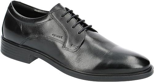 Geox U824WA Gladwin Eleganter Herren Business Schuh aus Leder, Anzugschuh, Schnürhalbschuh, Derbyschnürung, Gummisohle, Atmungsaktiv