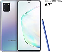 Samsung Galaxy Note10 Lite Smartphone with S pen, 128GB, 8GB RAM, Aura Glow, UAE Version