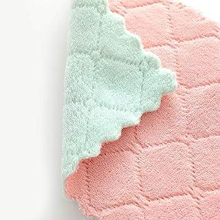 YA-Uzeun - Strofinaccio da cucina antiaderente, in velluto corallo rosa