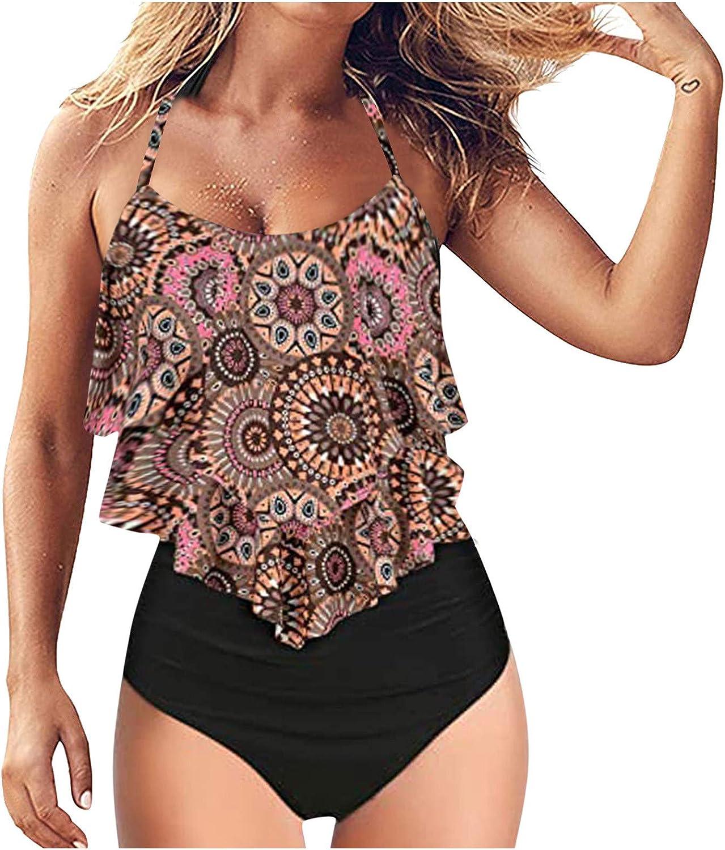 Gerichy Swimsuit for Women, Women Bathing Suit 2 Piece Tummy Control Sexy High Waist Tankini Swimwear Swimdress