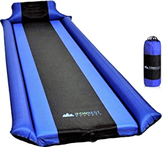 IFORREST Sleeping Pad with Armrest & Pillow - Ultra Comfortable Self-Inflating Foam Air Mattress - Ideal for Camping & Hiking, Backpacking, Cot, Hammock, Tent and Sleeping Bag!