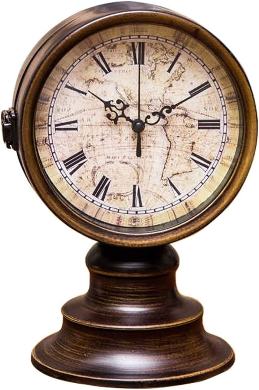 Max 46% OFF Desk Clock Year-end annual account Vintage Wrought Iron Table Decorati