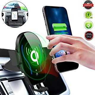 Qi Wireless Car Charger,CD Slot Phone Mount[Infrared-Sensing][10W Fast Charging] Car Phone Holder Fits for iPhone 11/11 Pro/11 Pro Max/X/XS/XS Max/XR/8 Plus and Samsung S10/S10+/S10E/S9/S9+/Note9/S8+