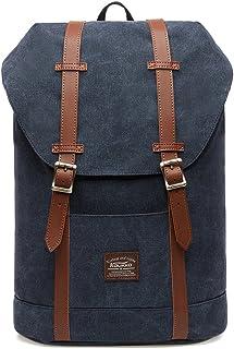 KAUKKO Rucksack Damen Herren Vintage Reiserucksack für 14 Notebook Lässiger Daypacks Schultaschen