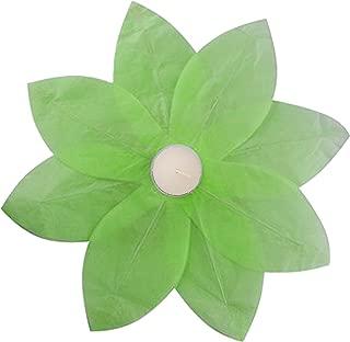 Lumabase 56606 6 Count Floating Lotus Paper Lanterns, Green