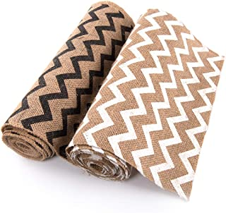 ZingLife Table Runners 12 x108 inch, 2 Pack Burlap Non-Slip Table Runner, Elegant Fabric Rolls for Rustic Weddings, Party Decorations and Crafts