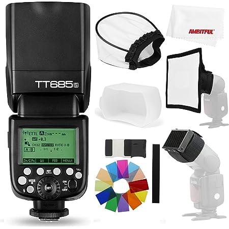 【正規品 技適マーク&日本語説明書】Godox TT685S HSS 1 / 8000S GN60 TTLフラッシュスピードライト 0.1-2.sリサイクル時間230フルパワーフラッシュTTL / M/マルチ/ S1 / S2モードをサポートする22ステップのパワ ー出力20〜200mmオート/マニュアルズーム Sony カメラに対応用 (TT685S)