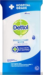 Dettol Anti-Bacterial Surface Wipes Fresh Household Disinfectant (Count of 45)