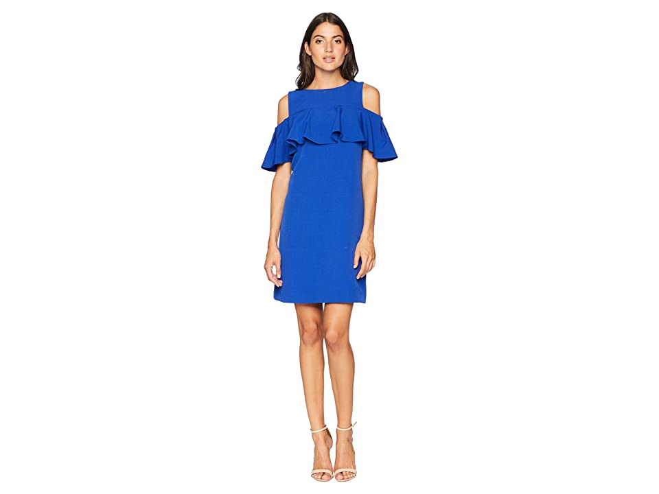 Tahari by ASL Sleeveless Dress with Ruffle Detail (Spring Royal) Women