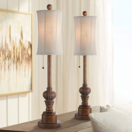 Co Z Traditional Buffet Lamps Set Of 2 Buffet Table Lamp In Antique Bronze Finish Tall Table Lamps For Candlestick Console Sideboard Farmhouse Etl Certificate Home Improvement
