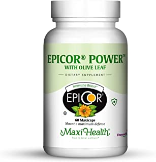 Maxi Health Epicor Power by Maxi-Health: Epicor with Olive Leaf Extract - Processed Brewer'S Yeast - 60 Veg...