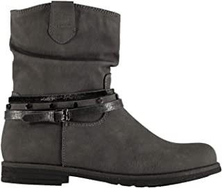 Miso Willow Western Boots Childs Girls Grey Shoes Boot Kids Footwear
