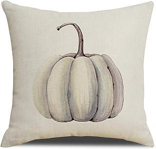 RUOAR Autumn Decorations Pumpkin Pillow Covers Fall Decor Cotton Linen Thanksgiving Throw..