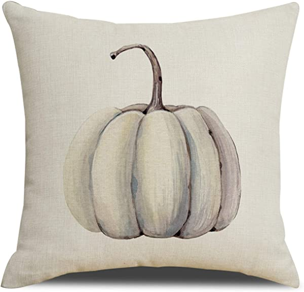 RUOAR Spring Sale Autumn Decorations Pumpkin Pillow Covers Fall Decor Cotton Linen Thanksgiving Throw Pillow Covers Cushion Cover 18 X 18