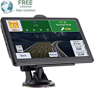 GPS Navigation for Car 7 Inch Touch Screen HD 256-8GB Navigation System,Pre-Installed Maps of North America, Lifetime Map Update, Vehicle GPS Satellite Navigation,with European map Card
