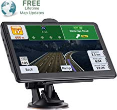 GPS Navigation for Car 7 inch Touch Screen HD 256-8GB Navigation System,Pre-Installed maps of The United States and Europe, Free Lifetime Map Update,Turn-to-Turn Alert Vehicle GPS Sat-Nav