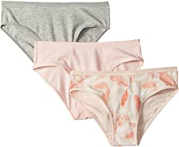 Lucky Brand Kids Feather 3-Pack Bikinis (Little Kids/Big Kids)