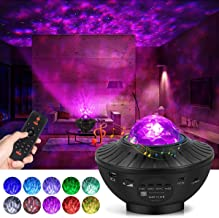 lightworld Star Projector Galaxy Night Light Projector Star Light Projector for Bedroom 10 Colors Ambiance with Bluetooth ...