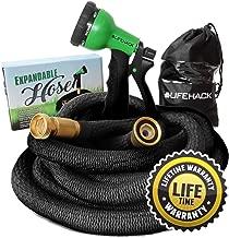MrLifeHack Expandable Garden Hose (50ft) - Strongest Expanding Water Hose - Lightweight, Durable & Flexible - Bonus Nozzle Sprayer & Storage Bag