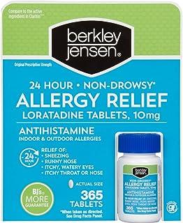 Berkley Jensen 24 Hour Non-Drowsy Allergy Relief, 365 Count (Compare to Claritin)