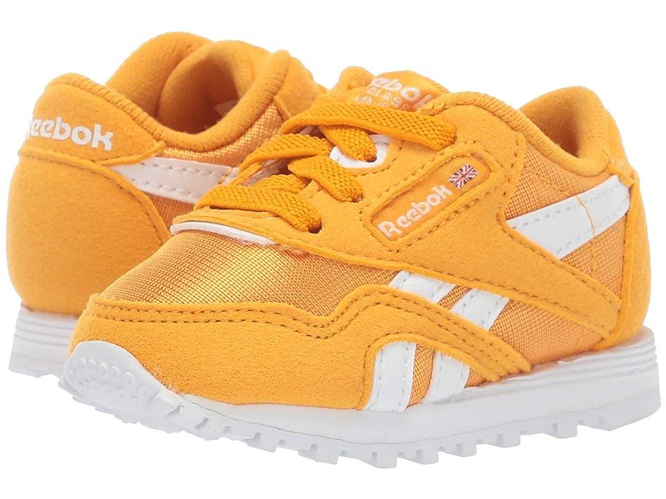 Reebok Kids Classic Nylon MU (Infant/Toddler) (Gold/White) Kids Shoes