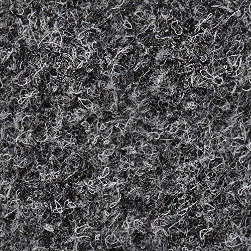 BODENMEISTER BM73501 Teppichboden Nadelfilz Nadelvlies Meterware Objekt grau anthrazit 200 cm und 400 cm breit, verschiedene Längen, Variante: 9 x 2 m