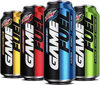 Mountain Dew Game Fuel, 4 Flavor Variety Pack, 16 fl oz. cans (12 Pack) (Packaging May Vary)