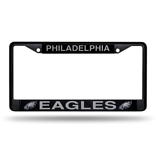 Philadelphia Eagles White Circle Metal License Plate