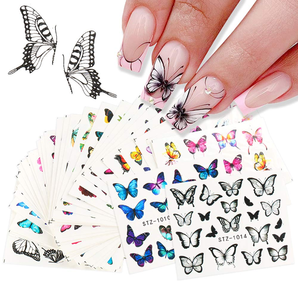 Butterfly Nail Art Stickers Max 74% OFF 30PCS Wa Butterflies Design for Ranking TOP15