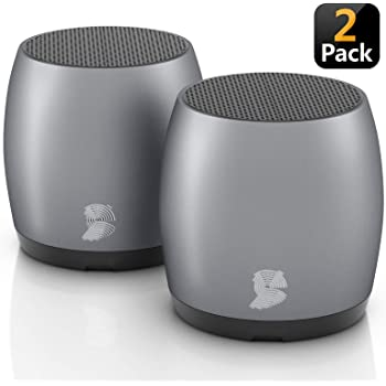 Amazon Com 2 Pack Headsound G2 Portable Wireless Bluetooth Speakers Latest Powerful Dual True Wireless Mini Speaker Set W Surround Hd Sound Instant Pairing W Built In Mic Handsfree Calls For Home Office