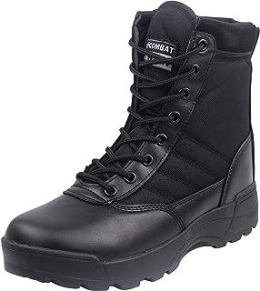 zpllsbratos Bottes Tactique Militaire Combat Armée Désert Sécurité Cuir Tissu Respirant Chaussures de Randonnée Outdoor Ho...