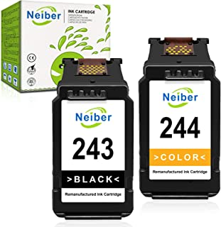 Neiber Remanufactured Ink Cartridge Replacement for Canon PG-243 CL-244 243 244 Black Color Fit for Pixma MG3022 MG2522 TR...