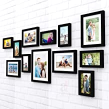 Art Street Nebula Photo Frame Set of 12 Individual Wall Photo Frames - Black(4X6-7 Unit, 6X8-4 Units, 8X10- I Unit)